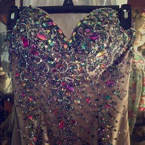 Size 4 mermaid dress. Worn once.